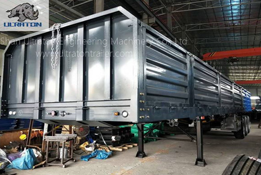3 Eixos 40 Ton Side Wall Semi Trailer