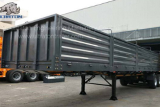 3 Eixos 50 Ton Side Wall Semi Trailer